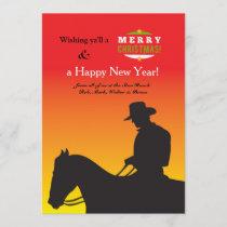 Christmas Cowboy Holiday Card