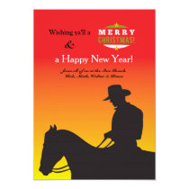 Christmas Cowboy Holiday Card