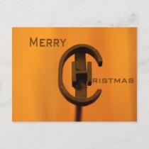 Christmas cowboy holiday postcard