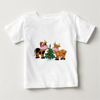 Christmas Cows Baby T-Shirt