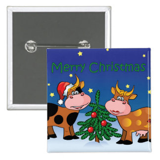 Christmas Cows Buttons
