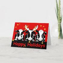 Christmas Cows Greeting Card
