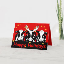 Christmas Cows Greeting Card 2