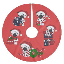 Christmas cows Holiday Country tree skirt