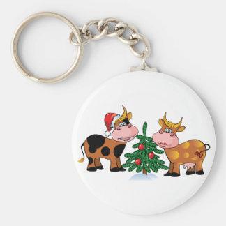 Christmas Cows Keychain