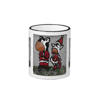 Christmas Cows Ringer Mug