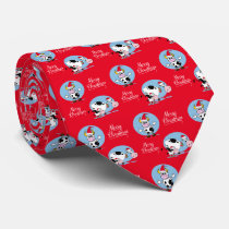 Christmas Cows With Santa Hats Necktie