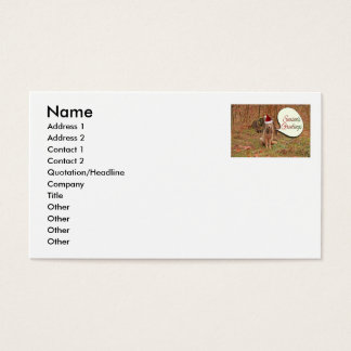 Christmas Coyote Business Card