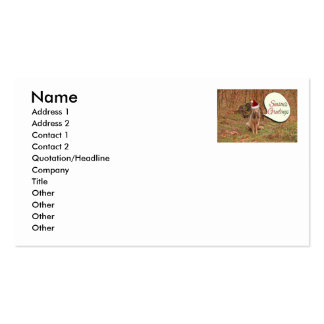 Christmas Coyote Double-Sided Standard Business Cards (Pack Of 100)