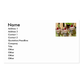 Christmas Coyote Pups Double-Sided Standard Business Cards (Pack Of 100)