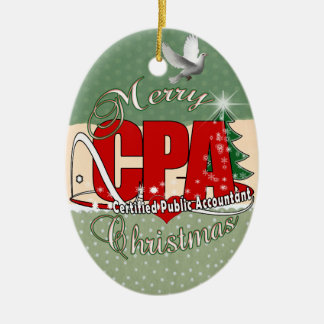 CHRISTMAS CPA Certified Public Accountant Ceramic Ornament