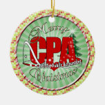 CHRISTMAS CPA Certified Public Accountant Double-Sided Ceramic Round Christmas Ornament
