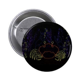 Christmas Crab 2016 Pinback Button