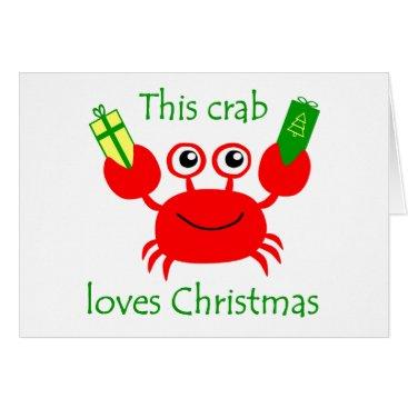 Christmas Themed Christmas Crab Card
