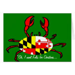 Christmas Crabs from Maryland Stationery Note Card