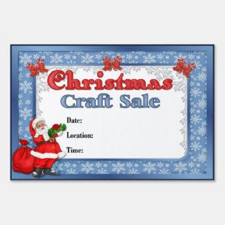 Christmas Craft Sale Santa Sign