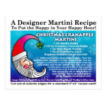 Christmas Cranapple Martini Recipe Postcard