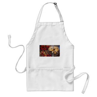 Christmas Cranberries And Gold Stars Adult Apron