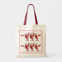 Christmas Crawfish Chorus Line Bag