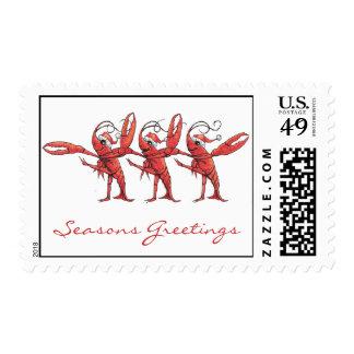 Christmas Crawfish Postage