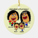 Christmas Crazy Family Cartoon Christmas Ornaments