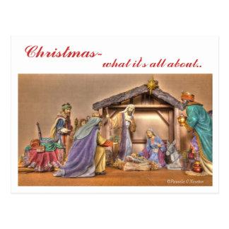 Christmas Creche Postcard