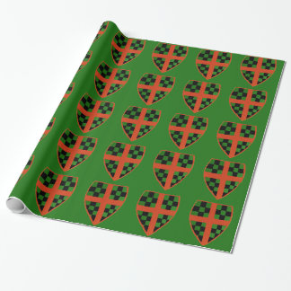 Christmas Crest Wrapping Paper