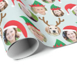 "Christmas Crew Custom Six Photo Funny Holiday Gift Wrapping Paper<br><div class=""desc"">**Scroll down for photo How To below!** This funny and very merry Christmas gift wrapping paper will delight your friends and family when you personalize it with the photos of your kids, parents, friends and even pets putting the whole crazy cast of characters in silly holiday Santa and elf hats....</div>"