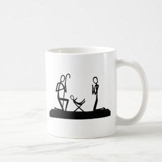 Christmas crib coffee mug
