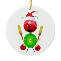 Christmas Cricket Ceramic Ornament