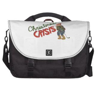Christmas Crisis Laptop Messenger Bag
