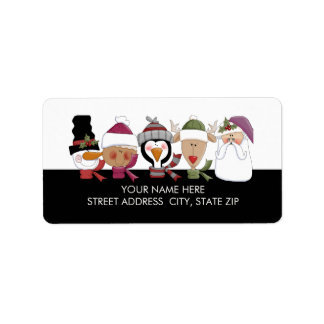 Christmas Critters Address Mailing Labels