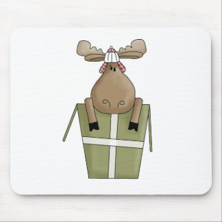 Christmas Critters · Moose & Gift Box Mouse Pad