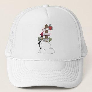 Christmas Critters · Penguin & Signpost Trucker Hat