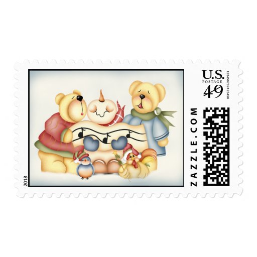 Christmas Critters Postage Stamp