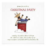 Christmas Critters · Reindeer & Chimney Invite