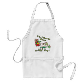 christmas croc a little hop frogs and crocodile adult apron