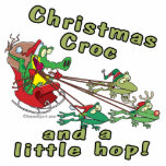 christmas croc a little hop frogs and crocodile photo sculpture