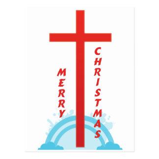 CHRISTMAS CROSS POSTCARD