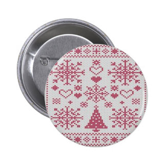Christmas Cross Stitch Sampler Buttons
