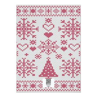 Christmas Cross Stitch Sampler Card