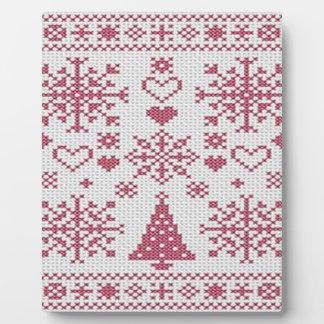 Christmas Cross Stitch Sampler Plaque