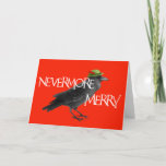 """Christmas Crow Card<br><div class=""""desc"""">Original art by WDeWitt. Further customize this greeting card by adding your name(s) inside.</div>"""