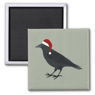 Christmas Crow Magnet