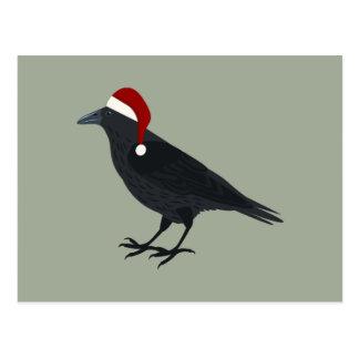 Christmas Crow Postcard