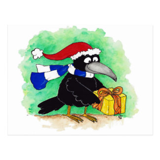 CHRISTMAS CROW postcard by Nicole Janes