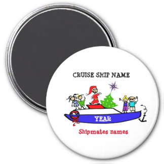 Christmas cruise magnet
