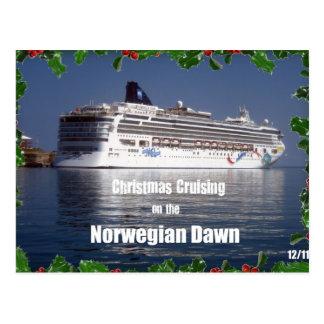 Christmas Cruising on the Norwegian Dawn Postcard