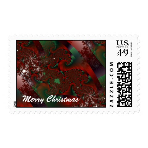Christmas Crystal Floral Lace Postage Stamp