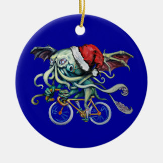 Christmas Cthulhu Ceramic Ornament